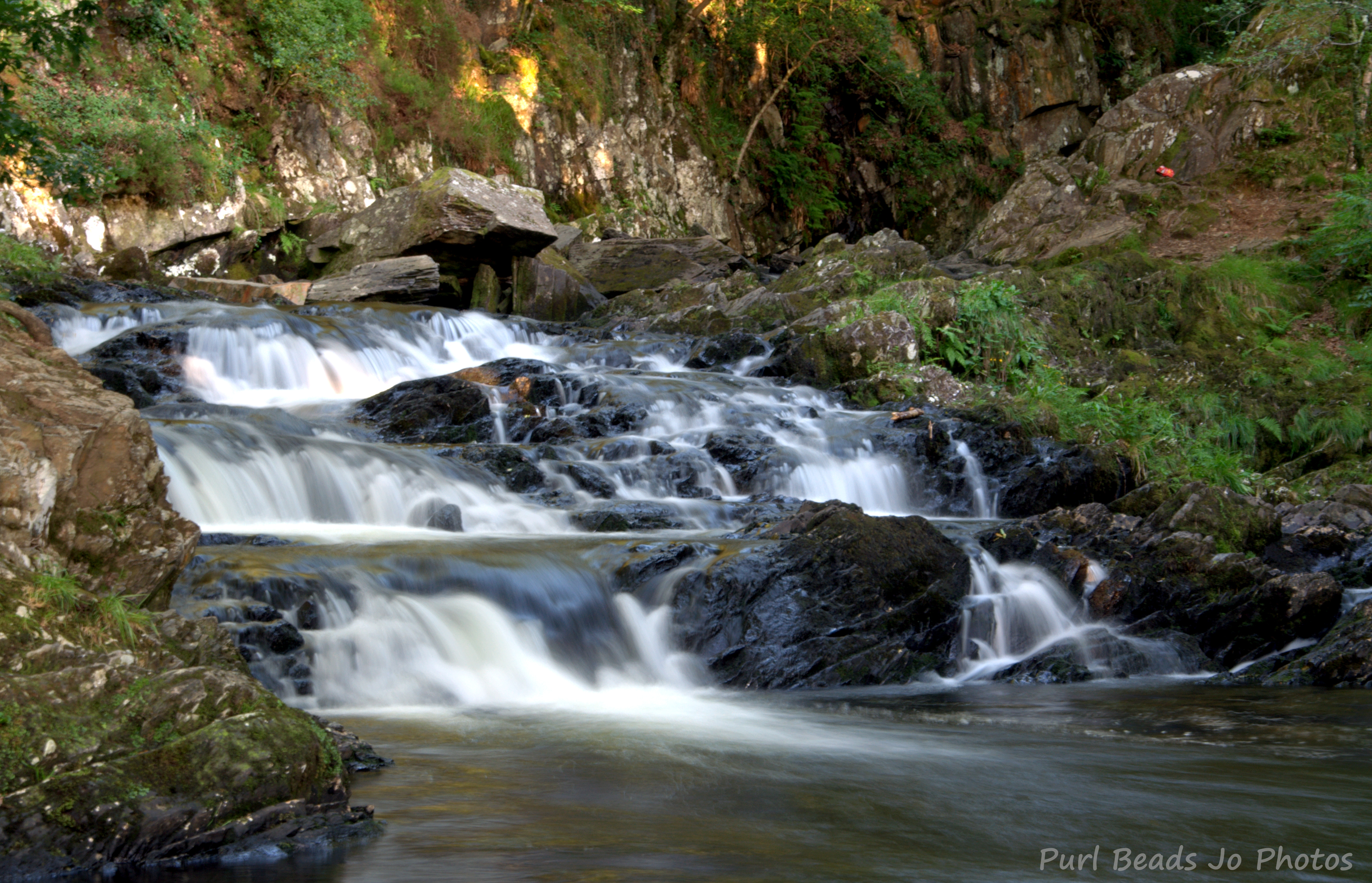 This is from the bottom of the waterfall near the campsite